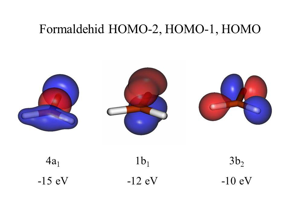 Formaldehid HOMO-2, HOMO-1, HOMO