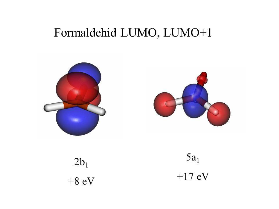 Formaldehid LUMO, LUMO+1