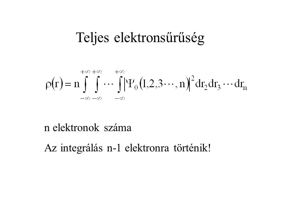 Teljes elektronsűrűség