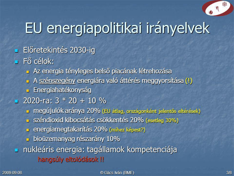 EU energiapolitikai irányelvek