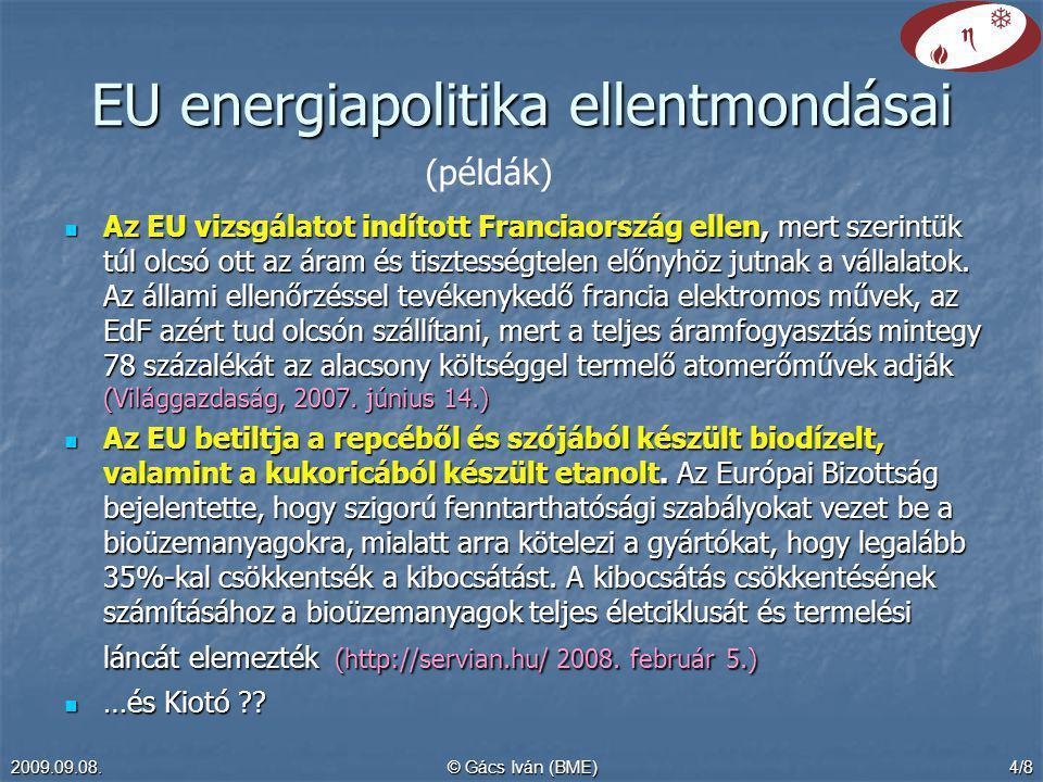 EU energiapolitika ellentmondásai