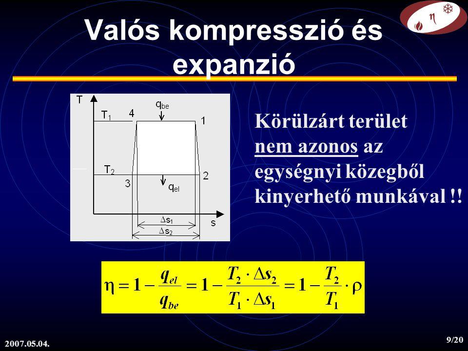 Valós kompresszió és expanzió