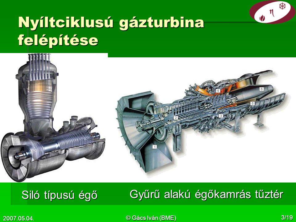Nyíltciklusú gázturbina felépítése