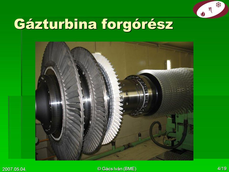 Gázturbina forgórész 2007.05.04. © Gács Iván (BME)