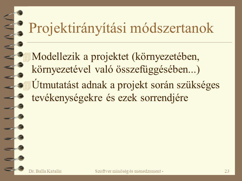 Projektirányítási módszertanok