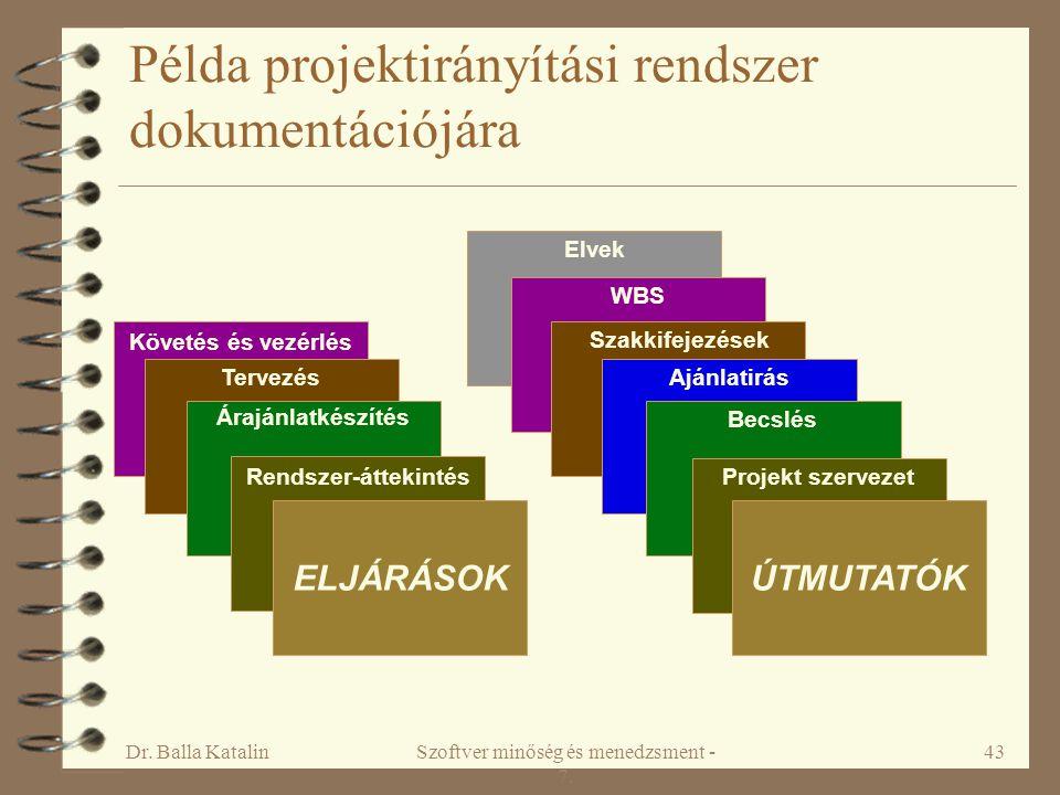 Példa projektirányítási rendszer dokumentációjára