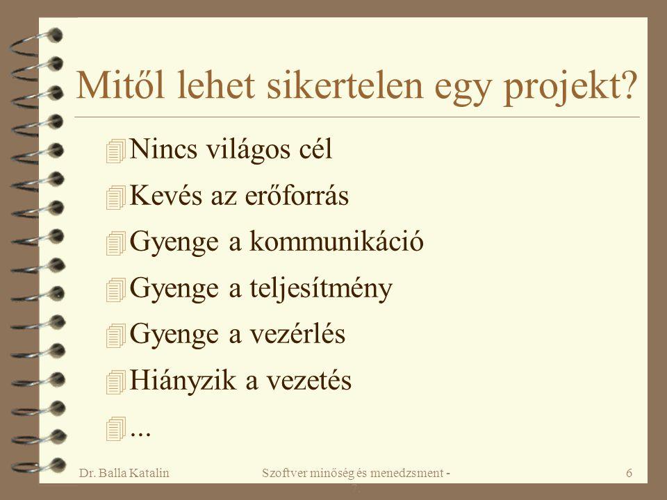 Mitől lehet sikertelen egy projekt
