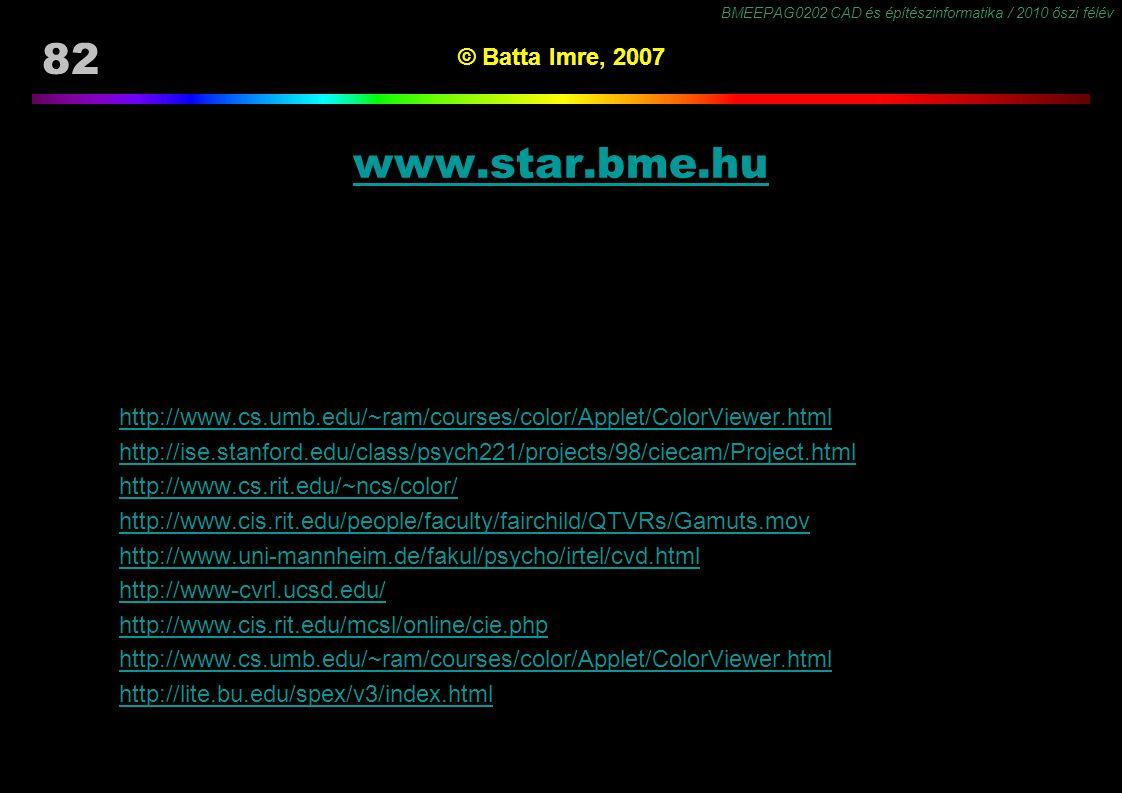 www.star.bme.hu © Batta Imre, 2007