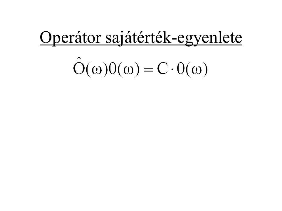 Operátor sajátérték-egyenlete