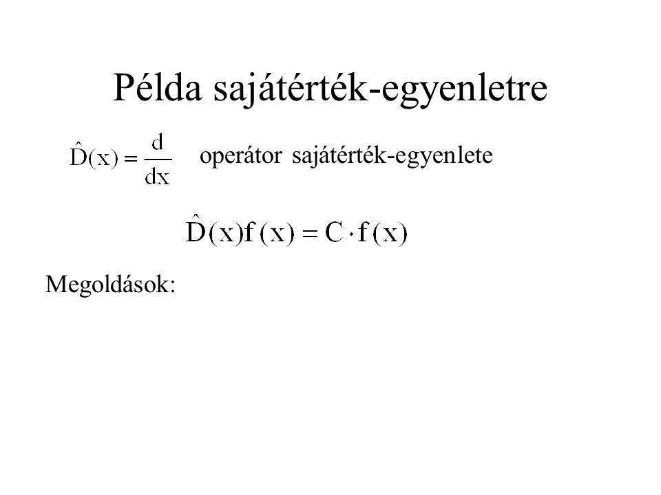Példa sajátérték-egyenletre