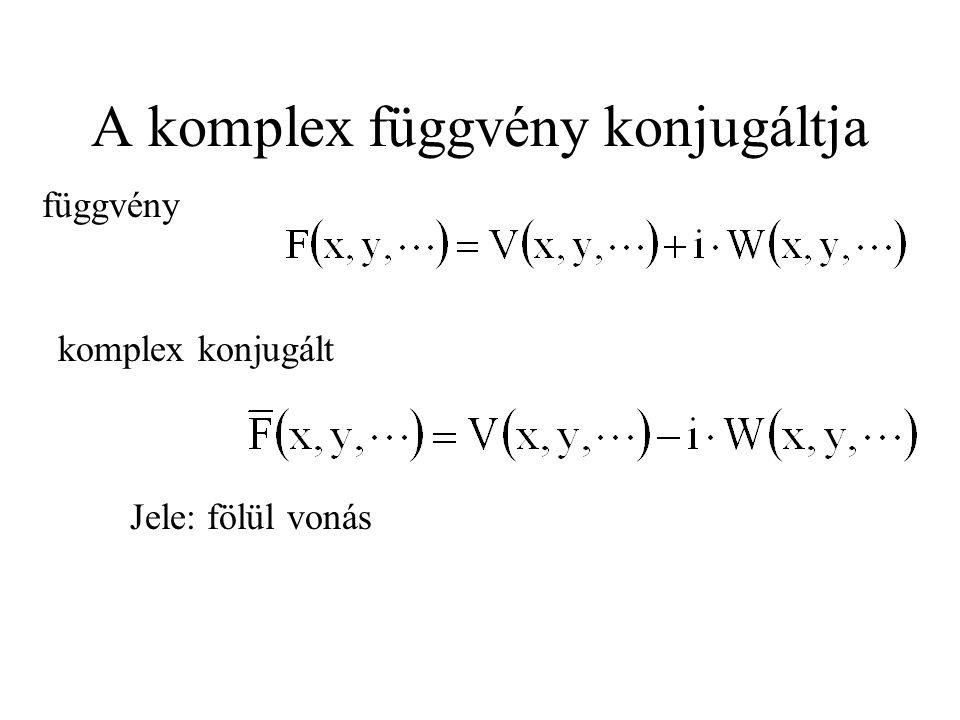 A komplex függvény konjugáltja