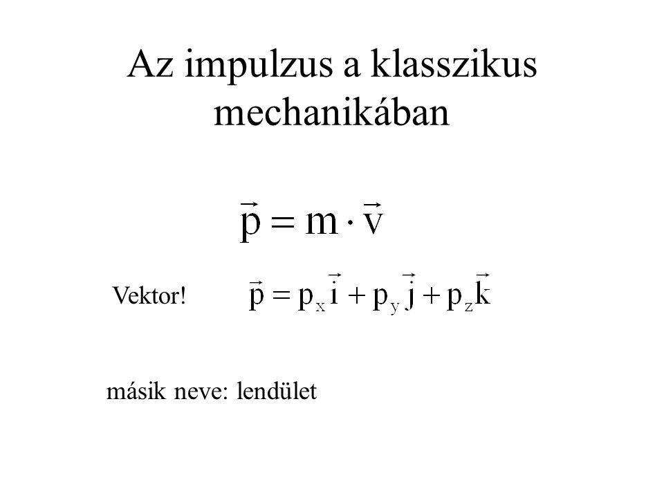 Az impulzus a klasszikus mechanikában