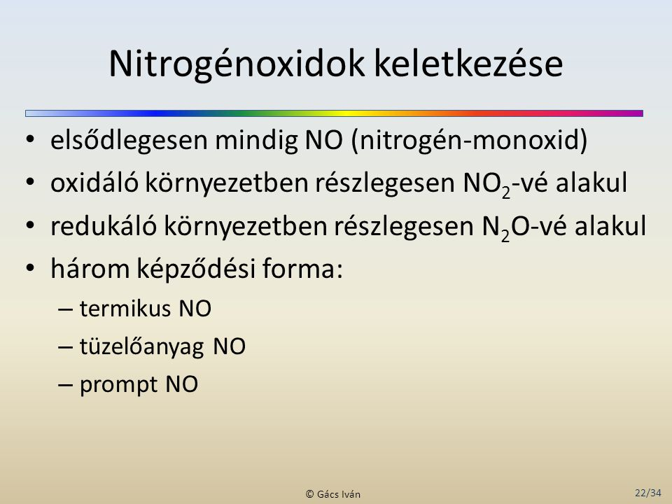 Nitrogénoxidok keletkezése