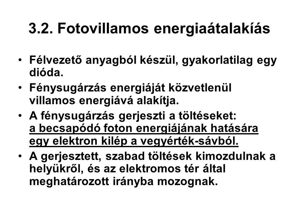 3.2. Fotovillamos energiaátalakíás