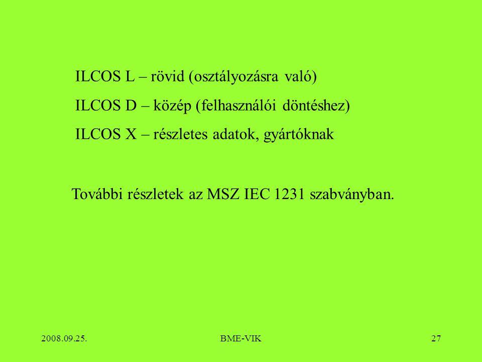 ILCOS L – rövid (osztályozásra való)
