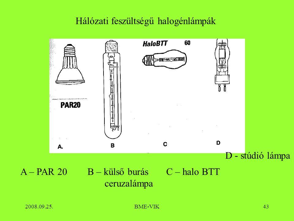 Hálózati feszültségű halogénlámpák