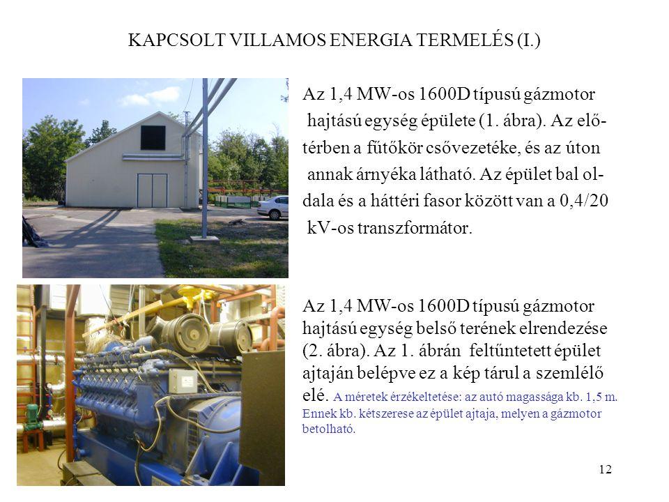 KAPCSOLT VILLAMOS ENERGIA TERMELÉS (I.)