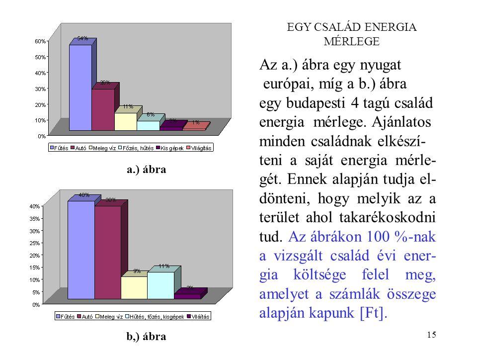 EGY CSALÁD ENERGIA MÉRLEGE