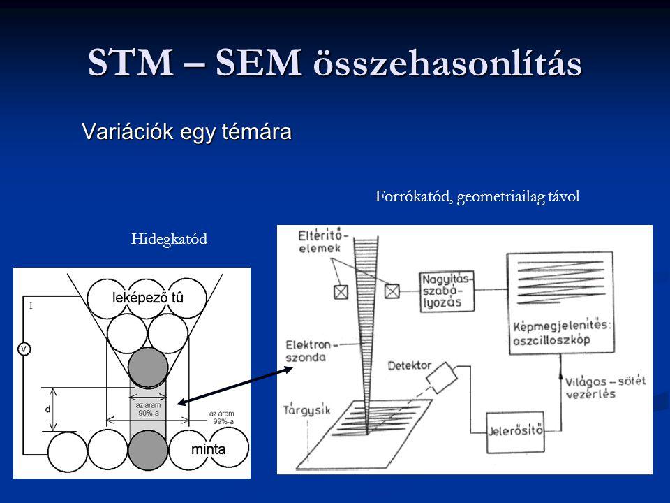 STM – SEM összehasonlítás