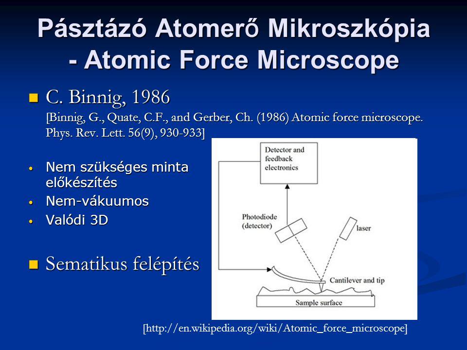 Pásztázó Atomerő Mikroszkópia - Atomic Force Microscope
