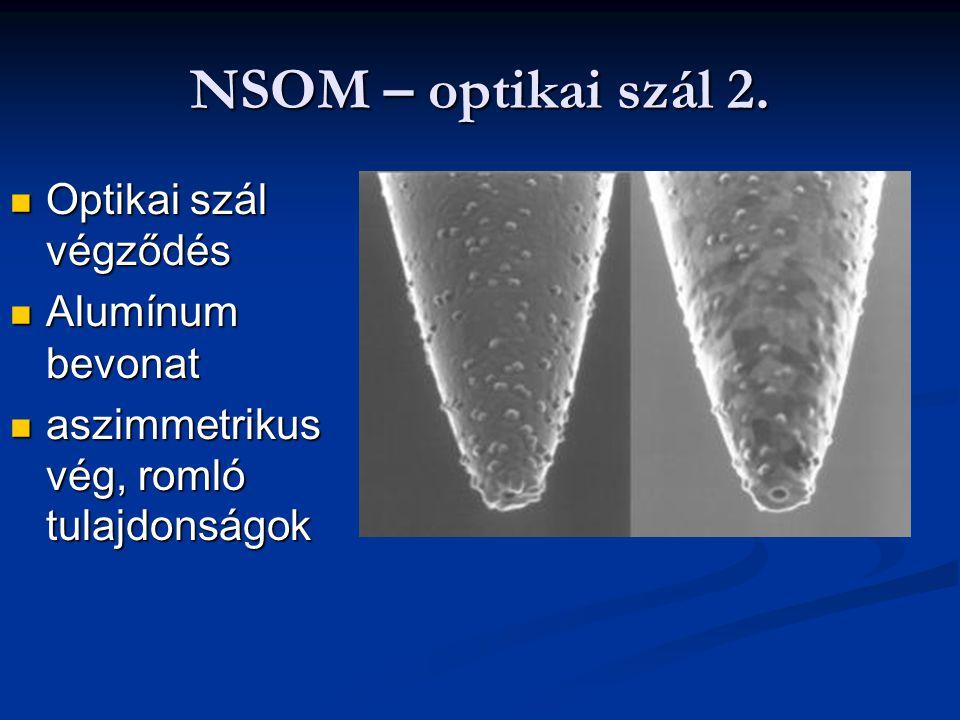 NSOM – optikai szál 2. Optikai szál végződés Alumínum bevonat