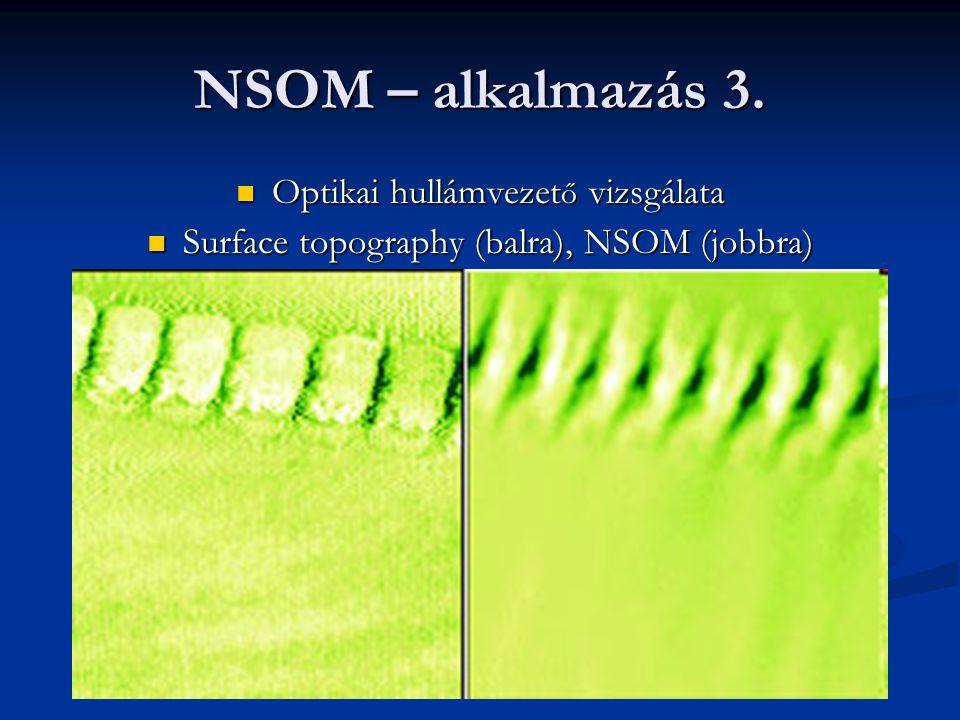 NSOM – alkalmazás 3. Optikai hullámvezető vizsgálata