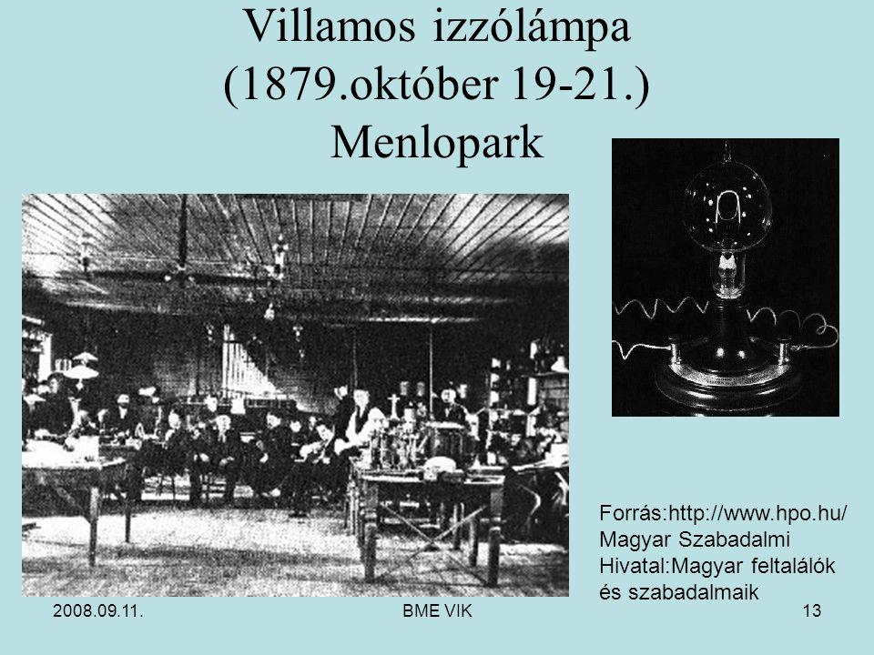 Villamos izzólámpa (1879.október 19-21.) Menlopark