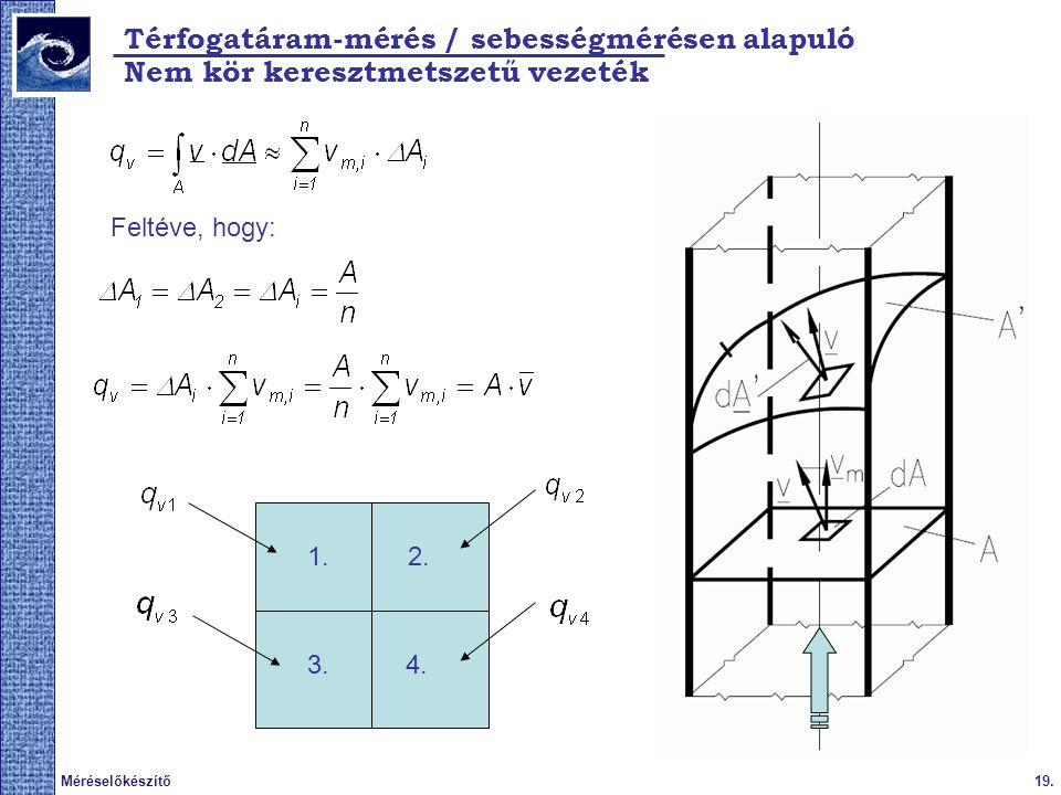 Térfogatáram-mérés / sebességmérésen alapuló
