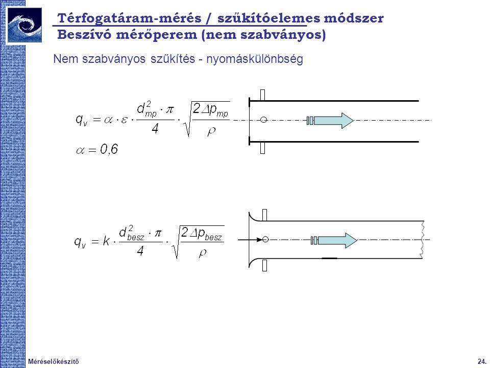 Térfogatáram-mérés / szűkítóelemes módszer