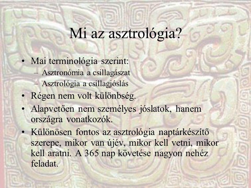 Mi az asztrológia Mai terminológia szerint: Régen nem volt különbség.
