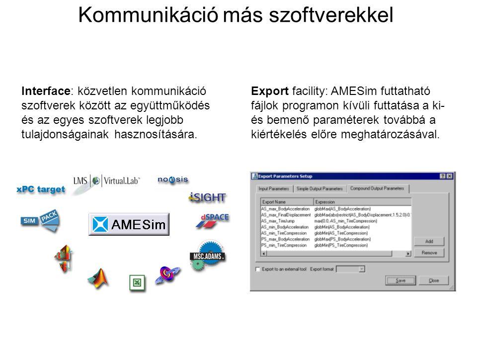 Kommunikáció más szoftverekkel
