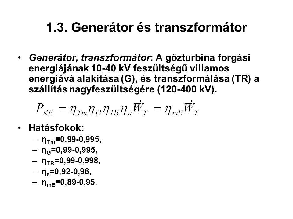 1.3. Generátor és transzformátor