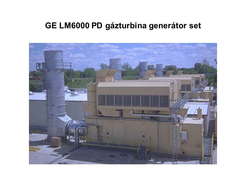 GE LM6000 PD gázturbina generátor set