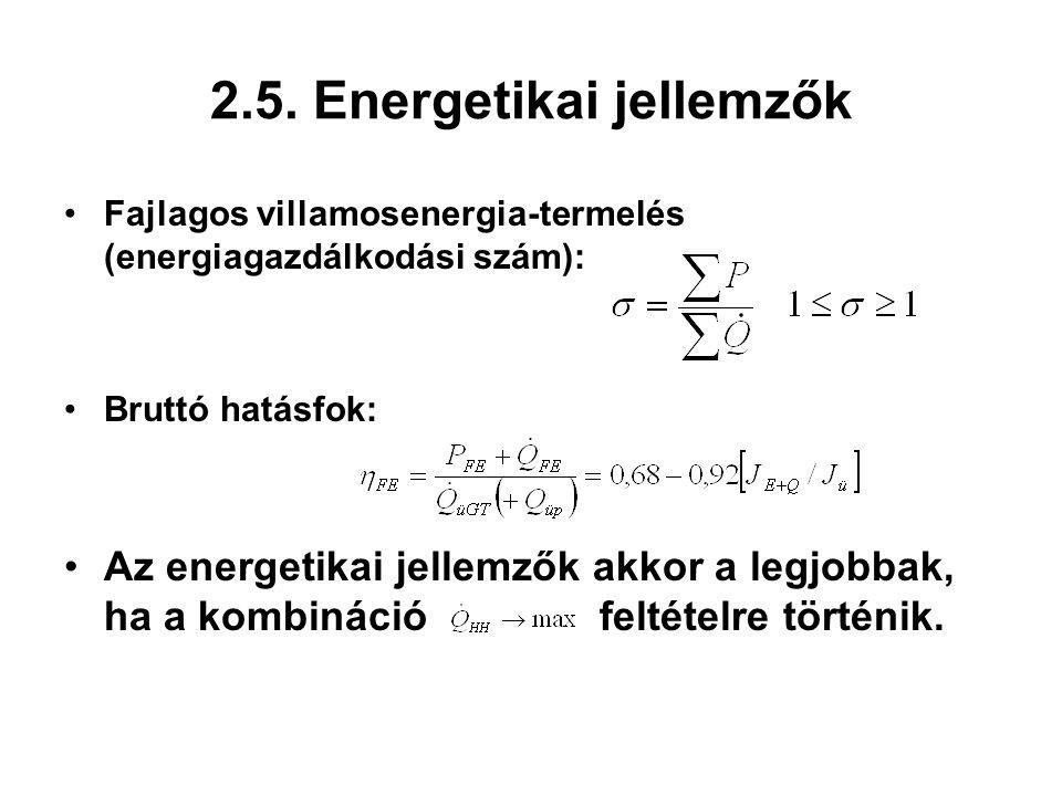 2.5. Energetikai jellemzők