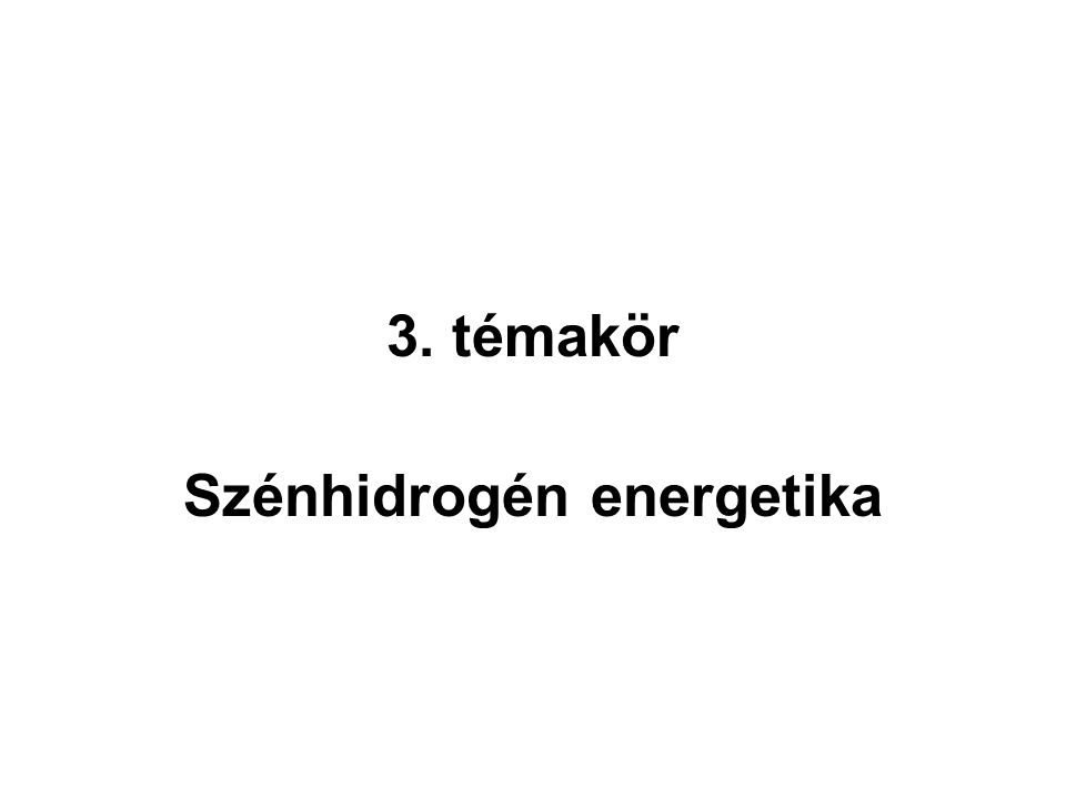 Szénhidrogén energetika
