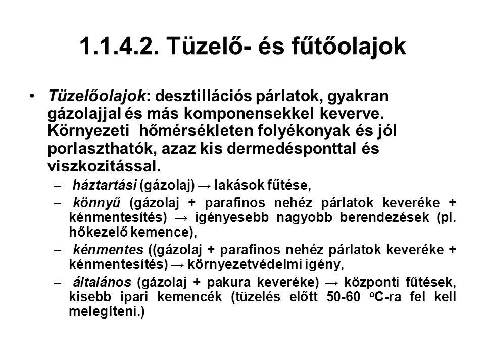 1.1.4.2. Tüzelő- és fűtőolajok
