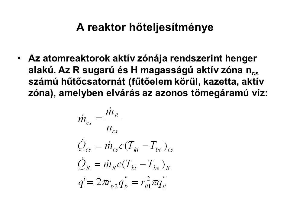 A reaktor hőteljesítménye