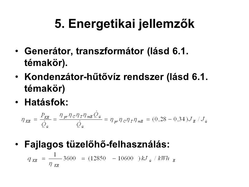 5. Energetikai jellemzők