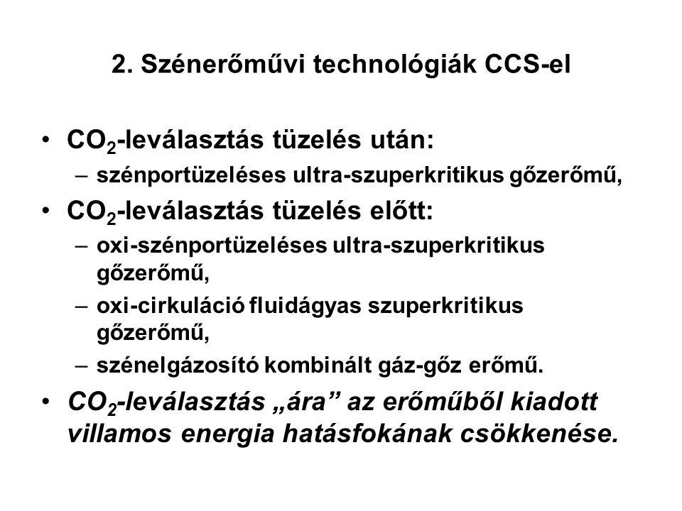 2. Szénerőművi technológiák CCS-el