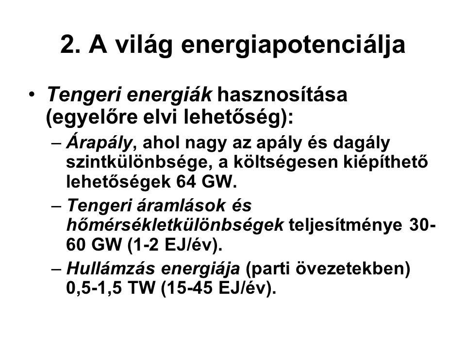 2. A világ energiapotenciálja
