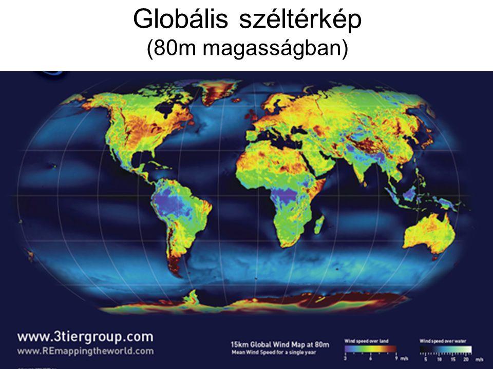 Globális széltérkép (80m magasságban)