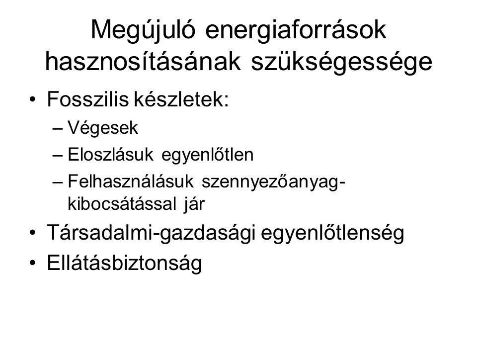 Megújuló energiaforrások hasznosításának szükségessége