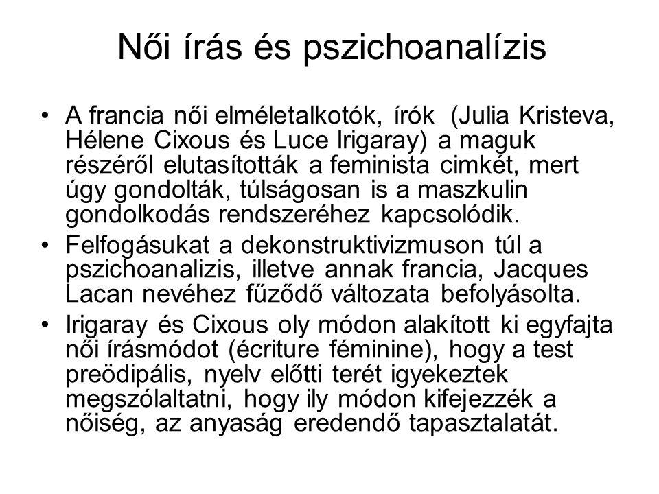 Női írás és pszichoanalízis