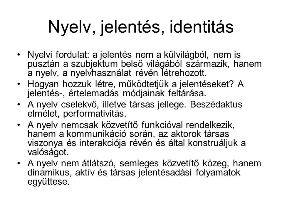Nyelv, jelentés, identitás