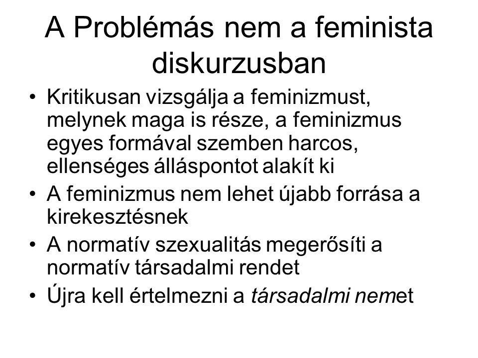 A Problémás nem a feminista diskurzusban