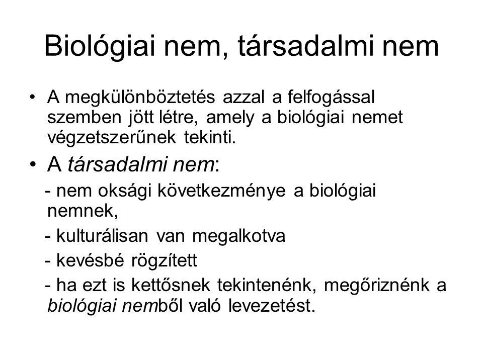 Biológiai nem, társadalmi nem