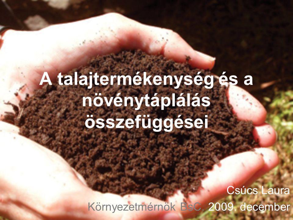 A talajtermékenység és a növénytáplálás összefüggései