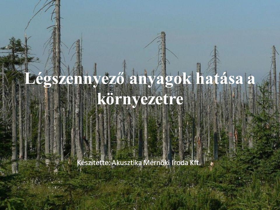 Légszennyező anyagok hatása a környezetre
