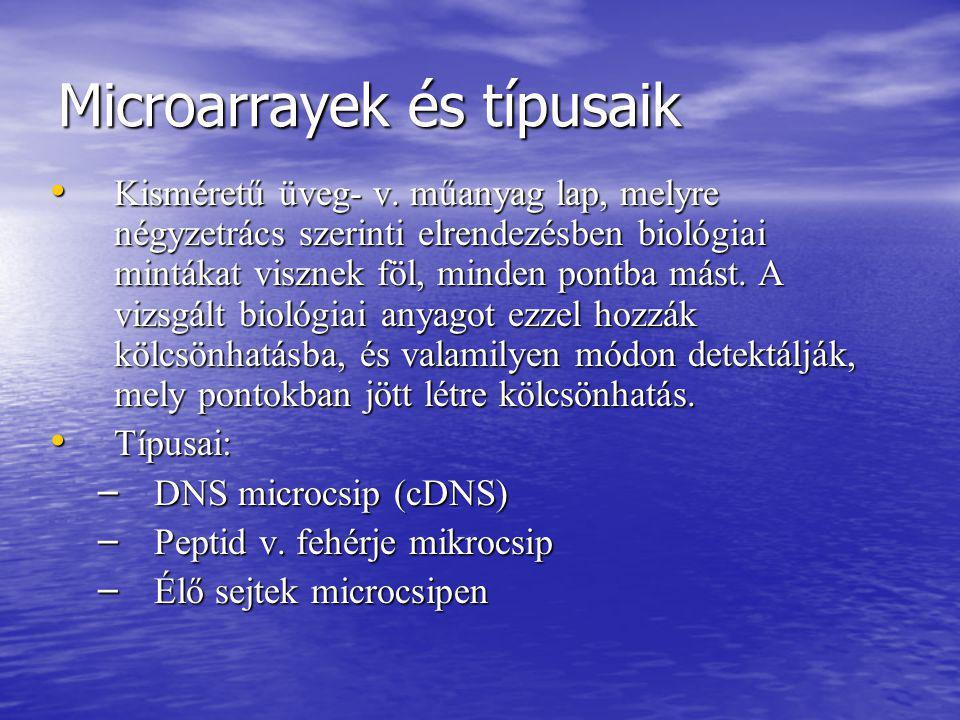 Microarrayek és típusaik