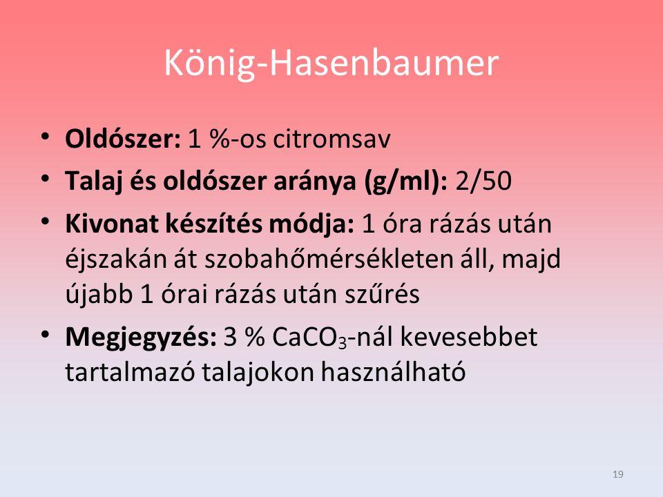 König-Hasenbaumer Oldószer: 1 %-os citromsav